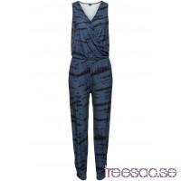 Nytt Jumpsuit i omlottdesign blå, mönstrad TQsKxiymQw