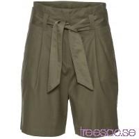 Shorts med knytskärp                               olivgrön                      QmUFjUc6Qg