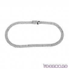 Armband 17 cm med vita stenar i 925 Sterling Silver fkAKHG8UEn