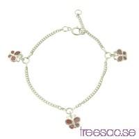 Armband för barn med rosa fjärilar i 925 Sterling Silver bH2RgKOfWB
