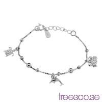 Berlockarmband Barn 12+2 cm Rhodinerat 925 Sterling Silver med djur                          qgwVAb7Tle