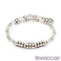 Chrysalis Armband Stars Crystal Silver Wrap                          rMLYmWdrA0