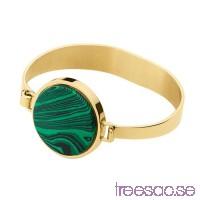 Dyrberg/Kern Armring Ronin Gold Green                          nFinahKJcI