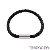 Edblad Armband Isac Leather Black med Gravyr 20,5 cm                          GBen9IReT5