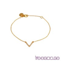 Syster P Armband Simple V Gold                          7rBd2E2LoR