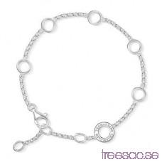 Thomas Sabo, 19,5 cm Berlockarmband 925 Sterling Silver fRene1JZXx