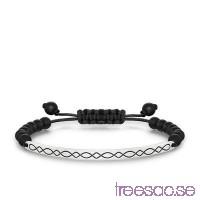 Thomas Sabo, Love Bridge Armband Obsidian 21 cm 925 Sterling Silver                          7D8t8OMNIt