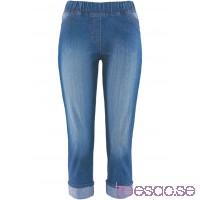 Nytt 3/4-leggings medium blue bleached                              medium blue bleached                      QiwViErY9J