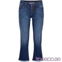 Nytt Cropped Flare Jeans blue stone blue stone QATeC0tK9a