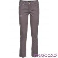 Nytt Jeans med ofållade benslut grå                              grå                      oX3OaCe707