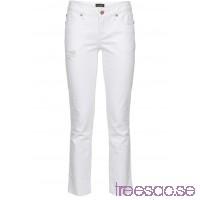 Nytt Jeans med ofållade benslut vit vit SGM8VqsYwx