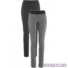 Nytt Jeansleggings, 2-pack medium grey denim/black stone medium grey denim/black stone voDQIrJZRI