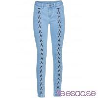 Nytt Skinny jeans med snörning lightblue bleached lightblue bleached 4z13a9ZIQA