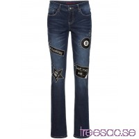 Nytt Slim jeans med tyglappar och nitar dark denim dark denim rZC85wGXxs