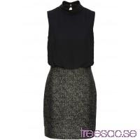 Nytt Jerseyklänning med glittereffekt 90 cm, Kort                              svart/guld                      4LRhOAsbru