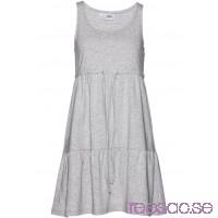 Nytt Jerseyklänning med knytband 88 cm, Kort                              ljusgråmelerad                      wrf0Mw1duK