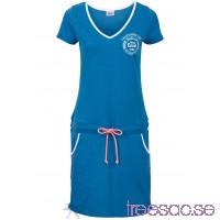 Nytt Strandklänning, kortärmad 96 cm, Kort                              havsblå, melerad                      CJM4njNHe3