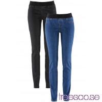 Nytt Jeansleggings, 2-pack                               blå/svart                      dYzLQJHRFU