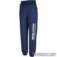 Nytt Joggingbyxa med nedvikbar linning, lång                               midnattsblå                      pjtBZjaUe8