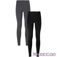 Nytt Leggings (2-pack)                               gråmelerad/svart                      ZSuZcn9FH3