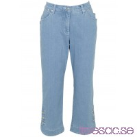 Nytt 3/4-stretchjeans blue bleached  		            		                blue bleached 		            		         MqchfwjGgB
