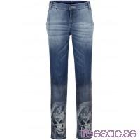 Nytt Jeans i boyfriendmodell, med tryck blue stone, färgmix blue stone, färgmix 3374kvs4oF