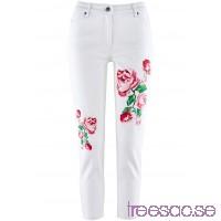 Nytt Jeans med blommönster white denim                              white denim                      KN27Sjzhbb