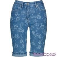 Nytt Mönstrade jeansbermudas blue bleached/vit, mönstrad blue bleached/vit, mönstrad 3S2S5i2pGU