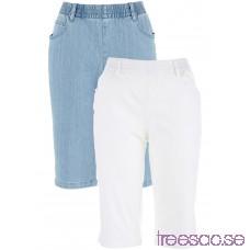 Nytt Stretchbermudas (2-pack) vit + blue bleached vit + blue bleached Ip2SrTW2As