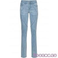 Nytt Stretchjeans, raka ben blue bleached/ light grey denim blue bleached/ light grey denim CSm6c1hEke