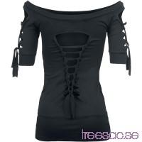 Cold Shoulder Cut-Out Shirt från Gothicana VWmGPkN6lh