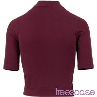 Ladies Cropped Turtleneck Tee från Urban Classics bJzezxjQC8