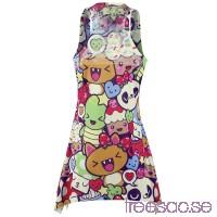 Girlie-topp: Cartoon Lace Panel vest från Innocent 0A2iOeuYRJ