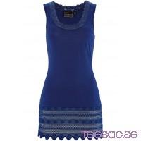 Nytt Långt linne med spets 76 cm midnattsblå BJJMibNo6A