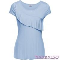 Nytt T-shirt med volang 64 cm puderblå xinA9dpTij