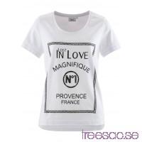 Nytt T-shirt med tryck, kortärmad 70 cm vit, med tryck iTXWDbxyd3