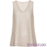 Nytt Jerseylinne med glittereffekt 64 cm beige/guld NoKuuqZuq2