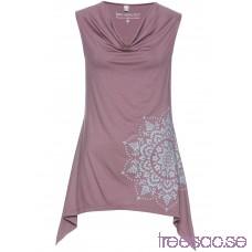 Nytt Linne med draperad ringning 68 cm matt violett/silvergrå 1Bagb6r6Oh