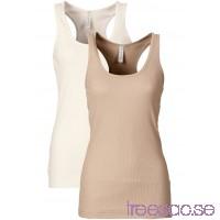 Nytt Ribbat linne (2-pack) 68 cm                              beige/ullvit                      quxDlcWj0X