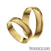 Förlovningsring 14k guld, kupad 6 mm - Zircon                          fdlHgZ5Hkc