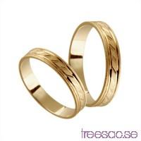 Förlovningsring 14k guld, rak 4 mm - Frost - Melanite                          PvghAZsJjJ