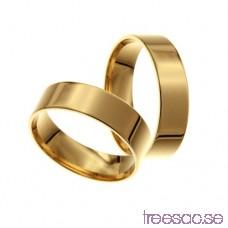 Förlovningsring 14k guld, rak 6 mm - Selected qFXWWFsN12