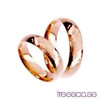 Förlovningsring 14k roséguld mönstrad, kupad 5 mm x 1,6 mm                          b0OiU3GbWQ