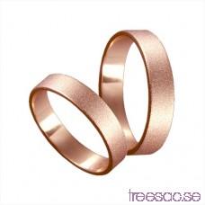 Förlovningsring 14k roséguld, rak 4 mm - Frost ou8S5vpgn0