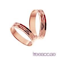 Förlovningsring 14k roséguld, rak 4 mm - Selected - Amber                          uYK6fJZgsS