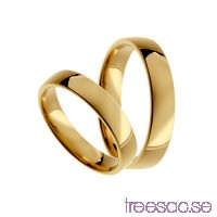 Förlovningsring 18k guld, kupad 4 mm x 1,4 mm X83hXcVpLb
