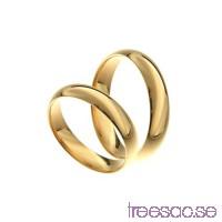 Förlovningsring 18k guld, kupad 4x1,4 mm                          6i2L73wBd4