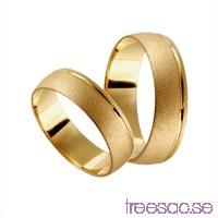 Förlovningsring 18k guld, kupad 6 mm - Frost - Zircon                          NRyUOSTyOr