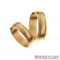 Förlovningsring 18k guld, kupad 6 mm - Obsidian                          A90D1XPCnW