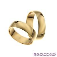Förlovningsring 18k guld, kupad 6 mm ZHheItjeIW